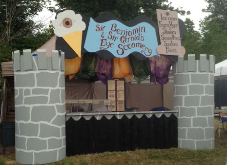 photo of Ben & Jerry's™ eye screamery  ice cream booth for vending at the Washington Midsummer Rennaissance Faire